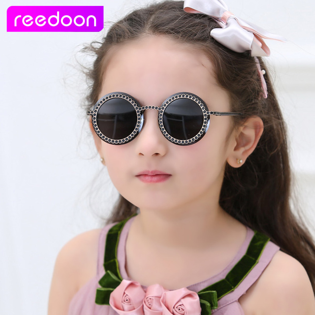 df807c1e9fc REEDOON Fashion Round Cute Brand Designer Child Sunglasses Anti-uv Baby  Vintage Glasses Girl Cool