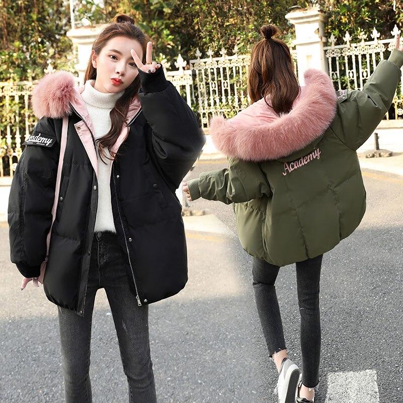 Green Dames Manteau Le Coréenne Top Black 2019 Lwl803 Grand Coton army Femmes Parkas D'hiver Veste Feminino Tops Tcyeek Fourrure Épais Noir De Vers Bas Casaco Court xZqFH4X