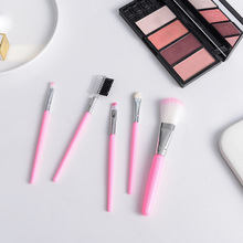 5 pcs/lot Top Quality Multi-function Pink Makeup Brushes Set Eye Shadow Eyebrow Eyeliner Foundation Brush Beauty Tools New