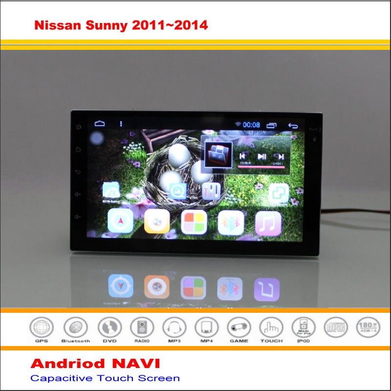 Android Sistema de Navegación GPS NAVI del coche Para Nissan Sunny/Null/Juke 201