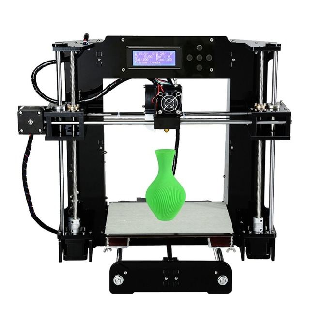 High Precision Automatic Leveling DIY 3D Printer Acrylic Lead Screw Frame Large Print Size 220*220*250mm EU Plug 2