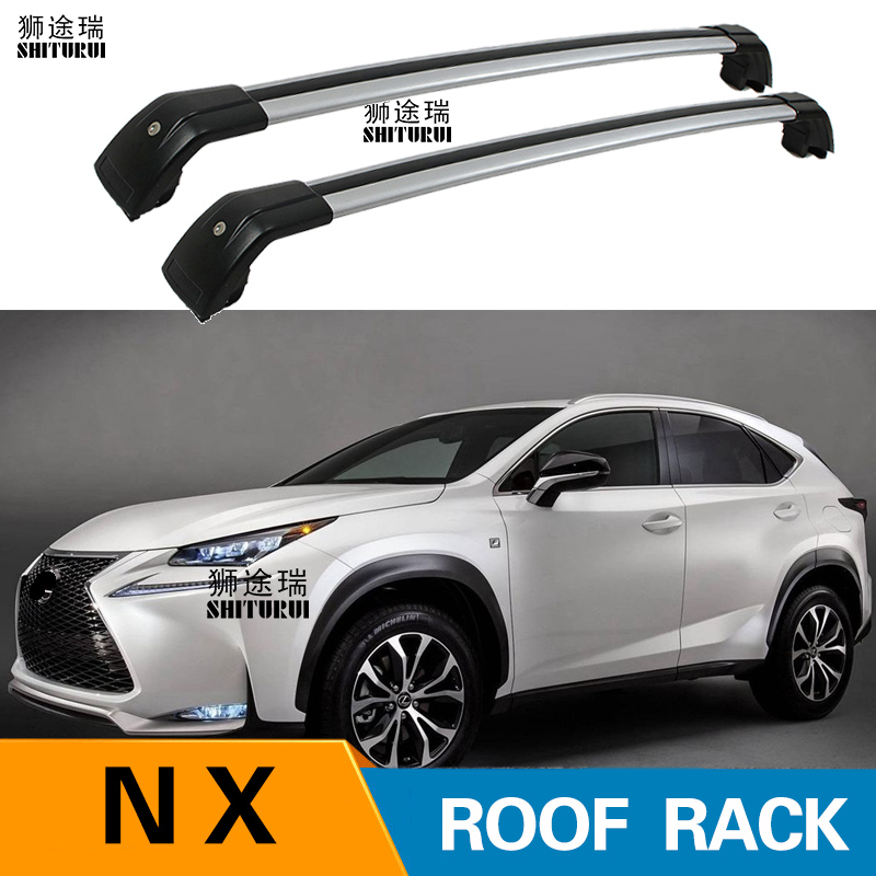 2Pcs Roof bars For LEXUS NX-Series 200T  5-dr SUV, 2015+ 2017 2018  Aluminum Alloy Side Bars Cross Rails Roof Rack Luggage SUV2Pcs Roof bars For LEXUS NX-Series 200T  5-dr SUV, 2015+ 2017 2018  Aluminum Alloy Side Bars Cross Rails Roof Rack Luggage SUV