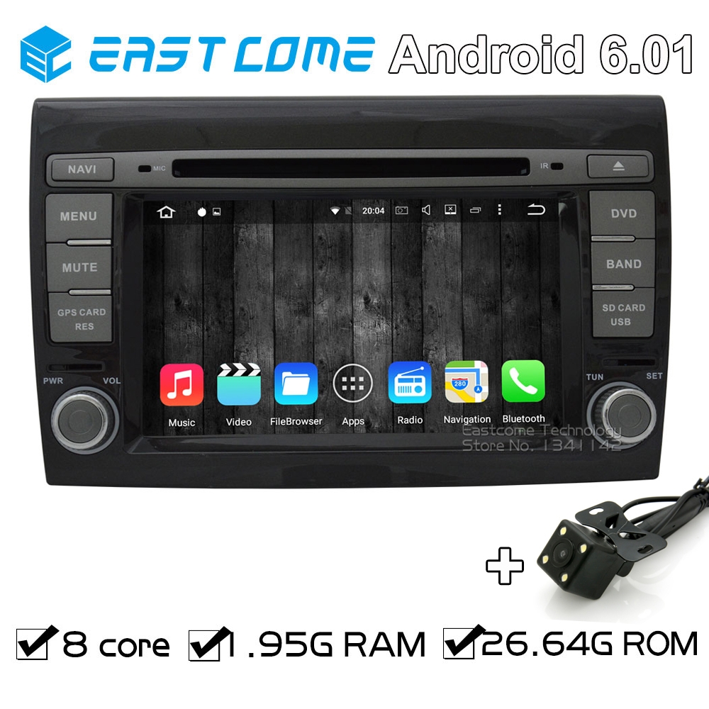 Octa Core 8 Core Android 6.01 Car DVD Player for Fiat Bravo 2007 2008 2009 2010 2011 2012 With Radio Rear View Camera GPS Navi android 8 0 octa core car radio dvd player gps multimedia for opel vauxhall antara corsa d 2006 2007 2008 2009 2010 2011 vivaro