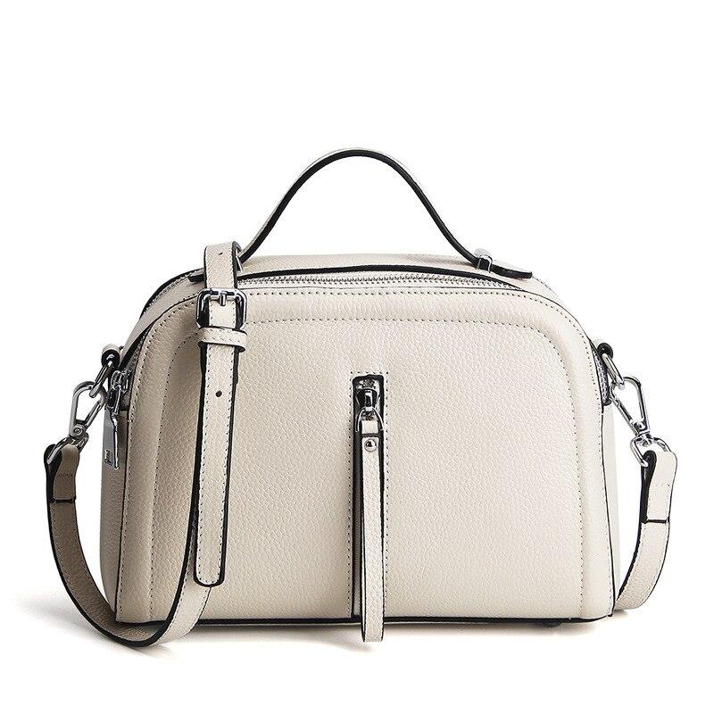 2019 Famous Designer Women s Handbag 100 Genuine Leather Female Shoulder Bag Small Pure Solid Color