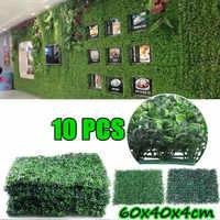10 pièces artificiel jardin haie écran plantes mur faux panneau toile de fond décoration