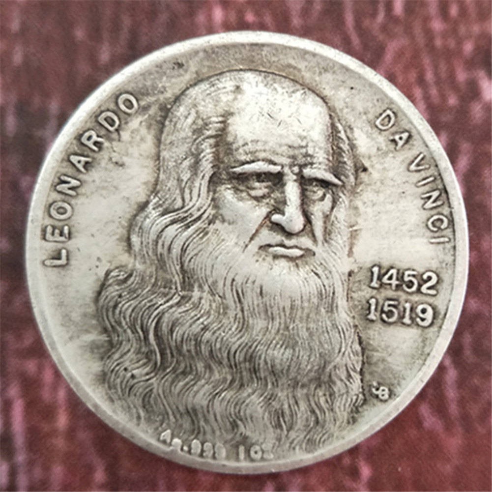 1452 1519 Da Vinci Coin Handicraft Silver Coin Commemorative Collection-in  Non-currency Coins from Home & Garden on Aliexpress.com | Alibaba Group