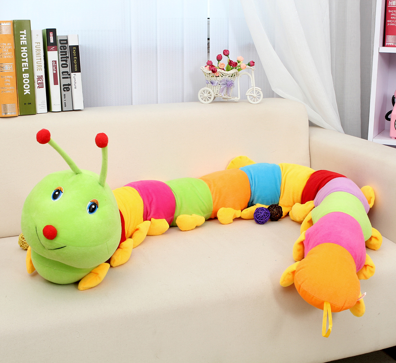 new creative super long plush Colorful caterpillar toy big lovely stuffed Millipedes doll gift about 230cm iron man action figure mini egg attack light 6pcs set action figures pvc brinquedos collection figures toys for christmas gift