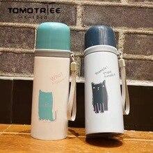 FDA Cartoon nette Katze isolierflasche reise kaffee becher 350 ml thermos vakuum topf wasserflasche tassen thermoskanne Tumbler