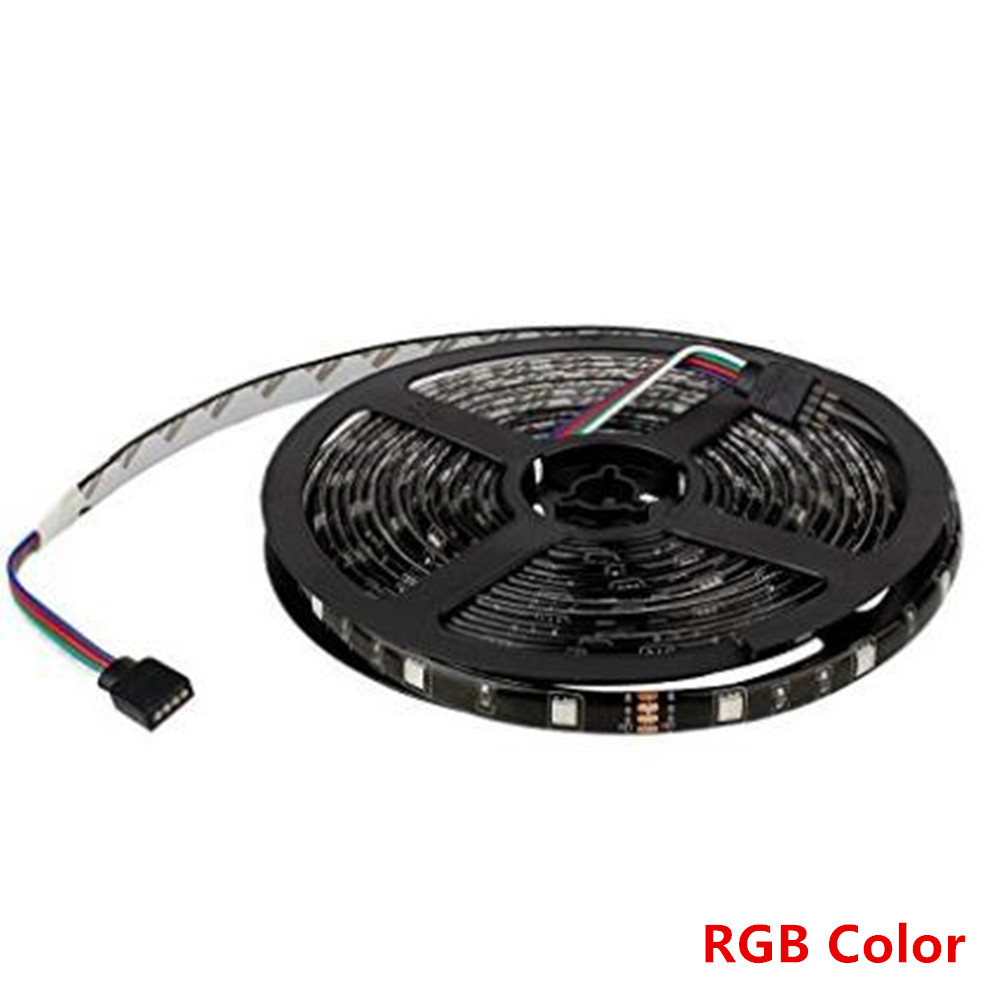 LED Strip DC12V Black PCB 5m 5050 300led Waterproof Flexible Light RGB/Blue/Green/Red/White/Warm White Color Free Shipping