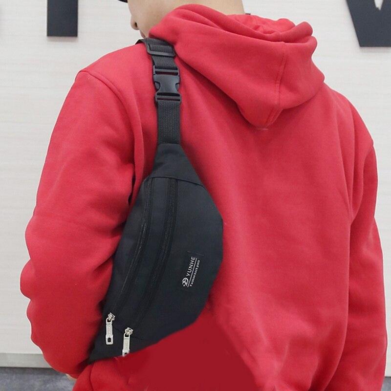 JESPER Unisex Outdoor Sports Casual Double Color Sequins Unisex Waist Pack