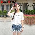 2016 Mujeres del verano nueva versión Coreana de las mujeres pantalones vaqueros del agujero pantalones cortos de mezclilla delgada femenina flecos puños raídos pantalones cortos de mezclilla de moda S2413