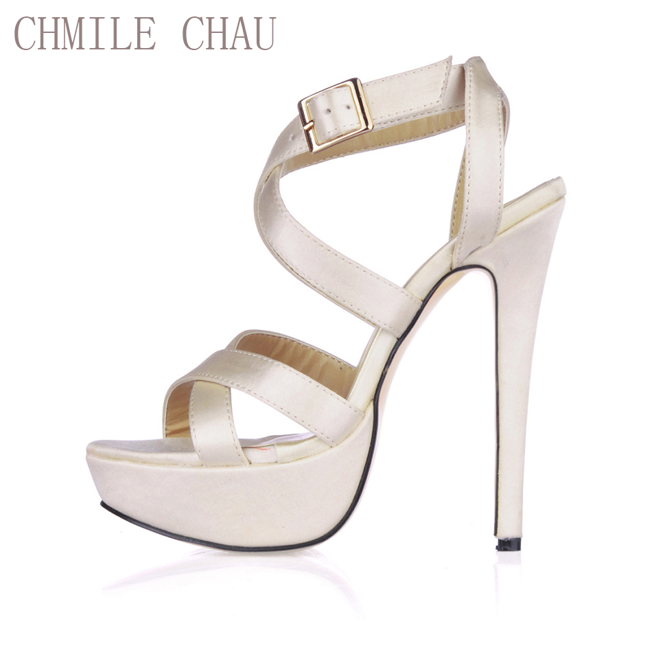 CHMILE CHAU Satin Sexy Party Shoes Women Stiletto High Heel Buckle Ankle Strap Platform Lady Sandals Zapatos Mujer 3463SL-A5CHMILE CHAU Satin Sexy Party Shoes Women Stiletto High Heel Buckle Ankle Strap Platform Lady Sandals Zapatos Mujer 3463SL-A5