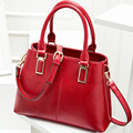 2017 New Fashion Handbag Womens Black Leather Messenger Bag Shoulder Bags Woman Red Blue Pink Handbags