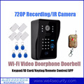 Newest Wifi Video Doorbell Doorphone Intercom System 720P Recording APP Remote Control ID Card