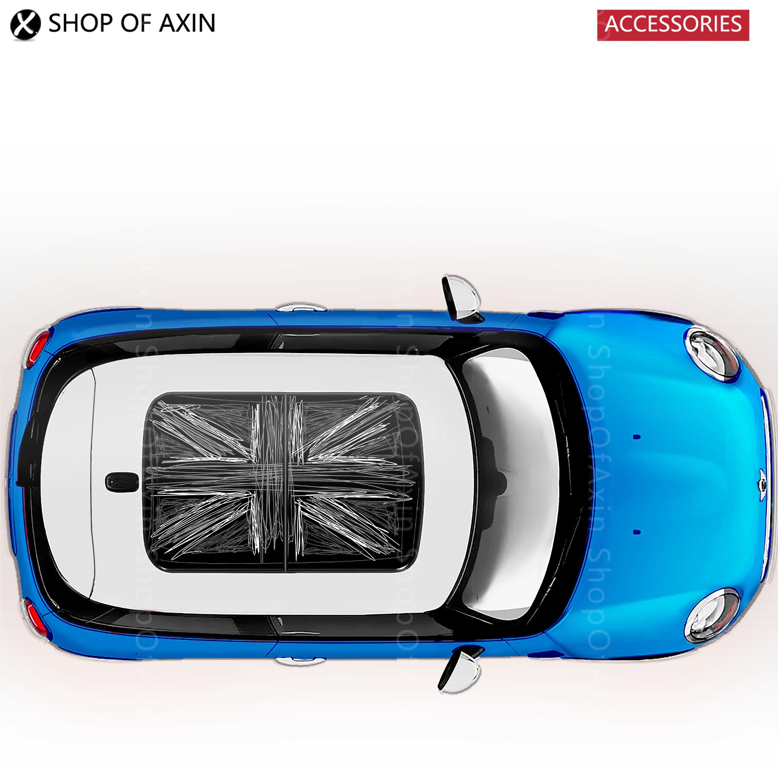 GreySketch UK sun roof Graphics stickers Sunroof for MINI Cooper clubman countryman hardtop R50 R53 R55 R56 R60 R61 F54 F55 F56 car door rocker panel decoration sticker graphics for mini cooper clubman countryman hardtop r50 r53 r55 r56 r60 r61 f54 f55 f56