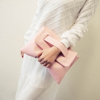 Summer Style Pink Bag Women Messenger Bags Candy Color Leather Handbags With Short Handles Day Clutches