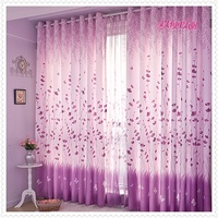 Rural Simple Style Printed Custom Made Finished Curtains For Living Room Half Light Shading Sitting Room