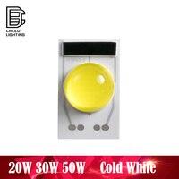 Led cob lâmpada chip 50 w ac 110 v 220 v branco frio entrada inteligente ic driver caber nenhuma necessidade motorista para diy projetor led