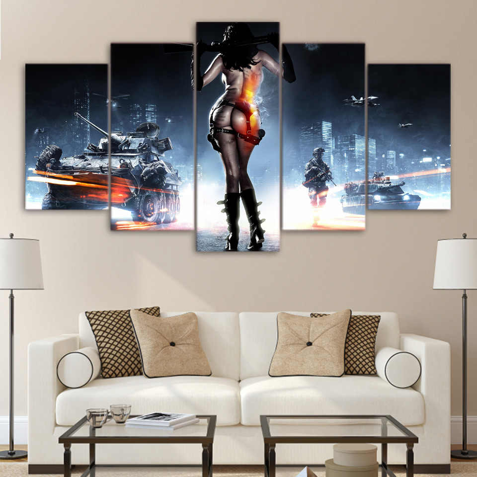 5 pieces / set of Movie poster  wall art for wall decorating home Decorative painting on canvas framed/FREE ART-Five-43