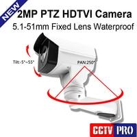 2016 Hot Sell Security CCTV Camera 2MP 10X Optical Zoom Auto Iris Bullet PTZ HD TVI