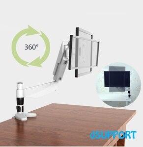 """Image 4 - 10 27 """"Display Rotação de 360 Graus Completo de Desktop Titular Monitor de TV LCD de Montagem Suporte de Fixação Do Braço 20 ~ 80 cm Altura MD5211W"""