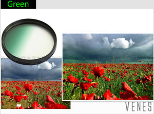 Image 5 - Venes 62mm Gradual Blue or Green or Yellow or Red or orange  Lens Filter Camera Accessory