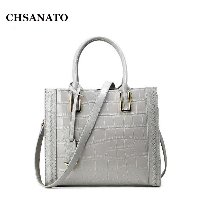 CHSANATO Luxury Handbags Women Bags Designer Bags For Women 2018 Fashion Crocodile Leather Tote Bags Handbag Women Famous Brand CHSANATO Luxury Handbags Women Bags Designer Bags For Women 2018 Fashion Crocodile Leather Tote Bags Handbag Women Famous Brand