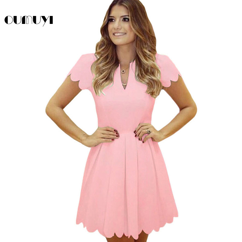 OUMUYI Estilo Princesa de La Manera A line Mini Vestidos Para ...