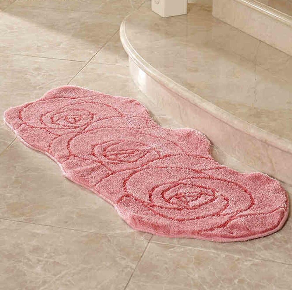Пасторальный розовый 1 роза/3 розы Форма ковер и ковер для гостиной цветочный Противоскользящий дверной коврик мягкий ворсовый ковер коврик для ванной - Цвет: 3 roses