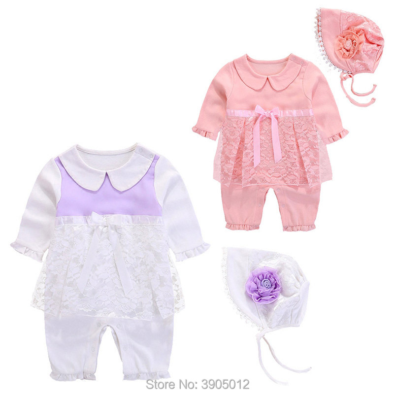 2018 Real Hot Sale Rompers Newborn Clothes Female Summer Cotton Thin 0 1 Year Old Skirt 6 Months 3 Baby Girls Freeshipping