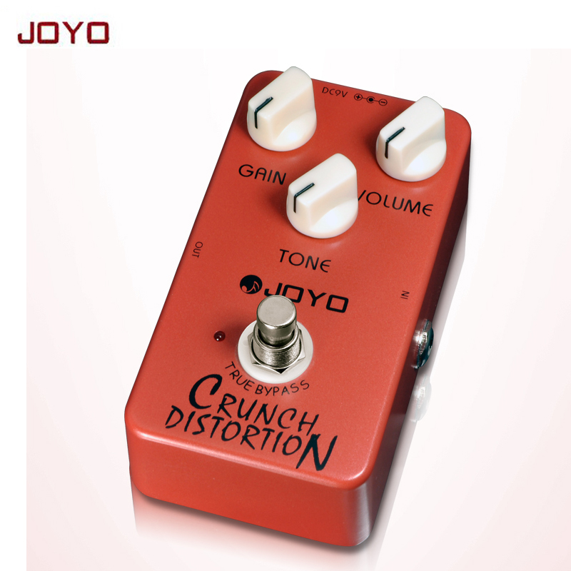 JOYO JF-03 Crunch Distortion Electric Guitar Effect Pedal British tube high-gain tube true bypass free shipping joyo ironman orange juice amp simulator electric guitar effect pedal true bypass jf 310 with free 3m cable