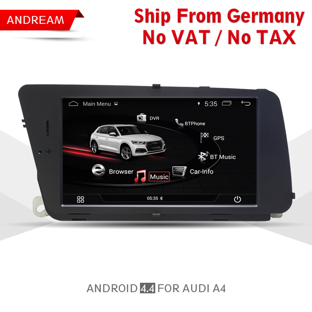 US $423 0 |Android Car Multimedia Player For AUDI A4 (2008 2016 B8)  Bluetooth Gps Navigation Wifi 7