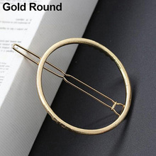 Fashion Women Geometry Golden Silver Tone Triangle Hairpin Hair Clip Hair Accessories