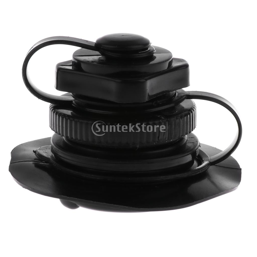 Plastic Air Valve Caps with Base for Inflatable Kayak Rubber Boat Canoe Pool Raft Dinghy Tender