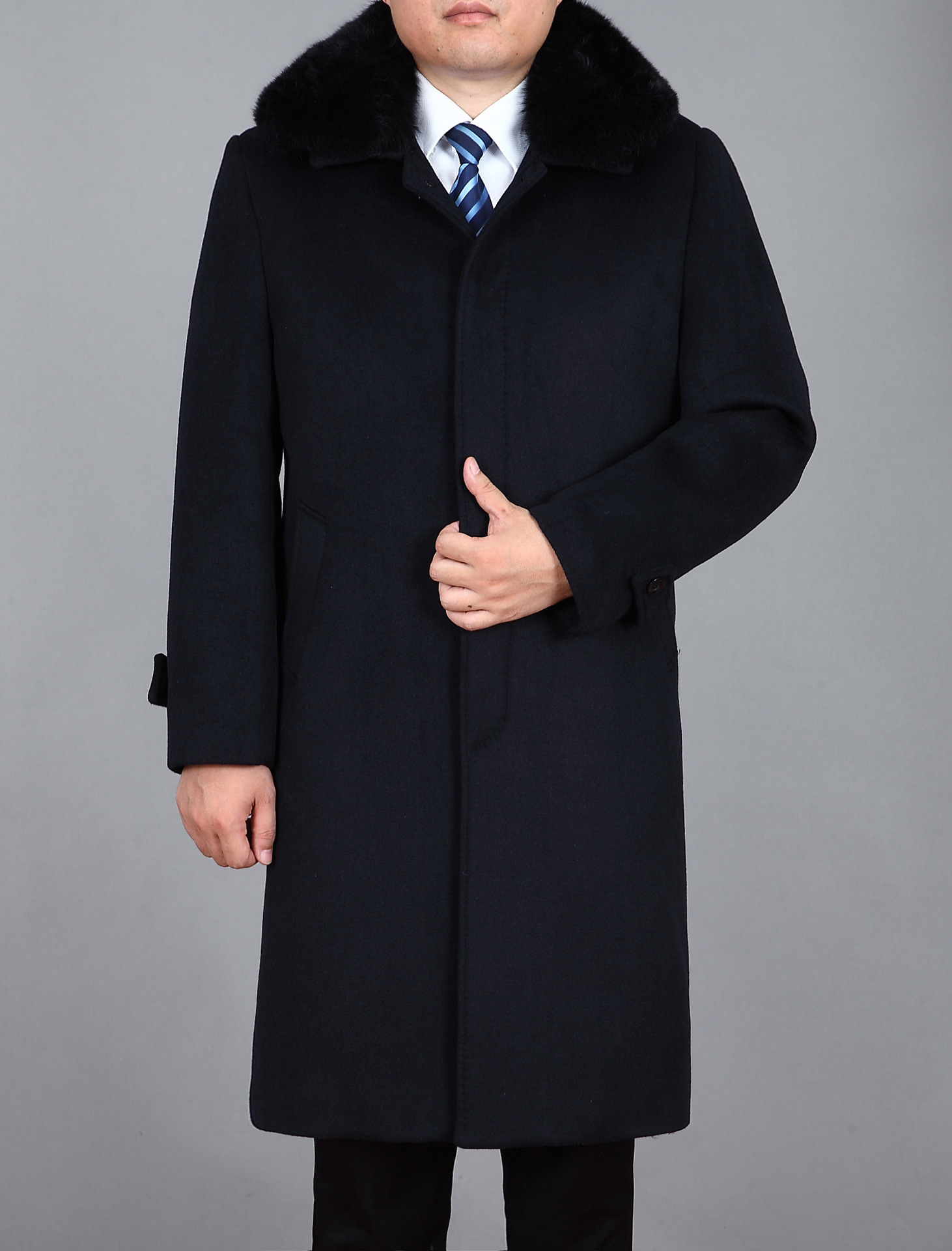 Mens Wool Coats And Jackets Men's Cashmere Coat Long Suit Jacket ...