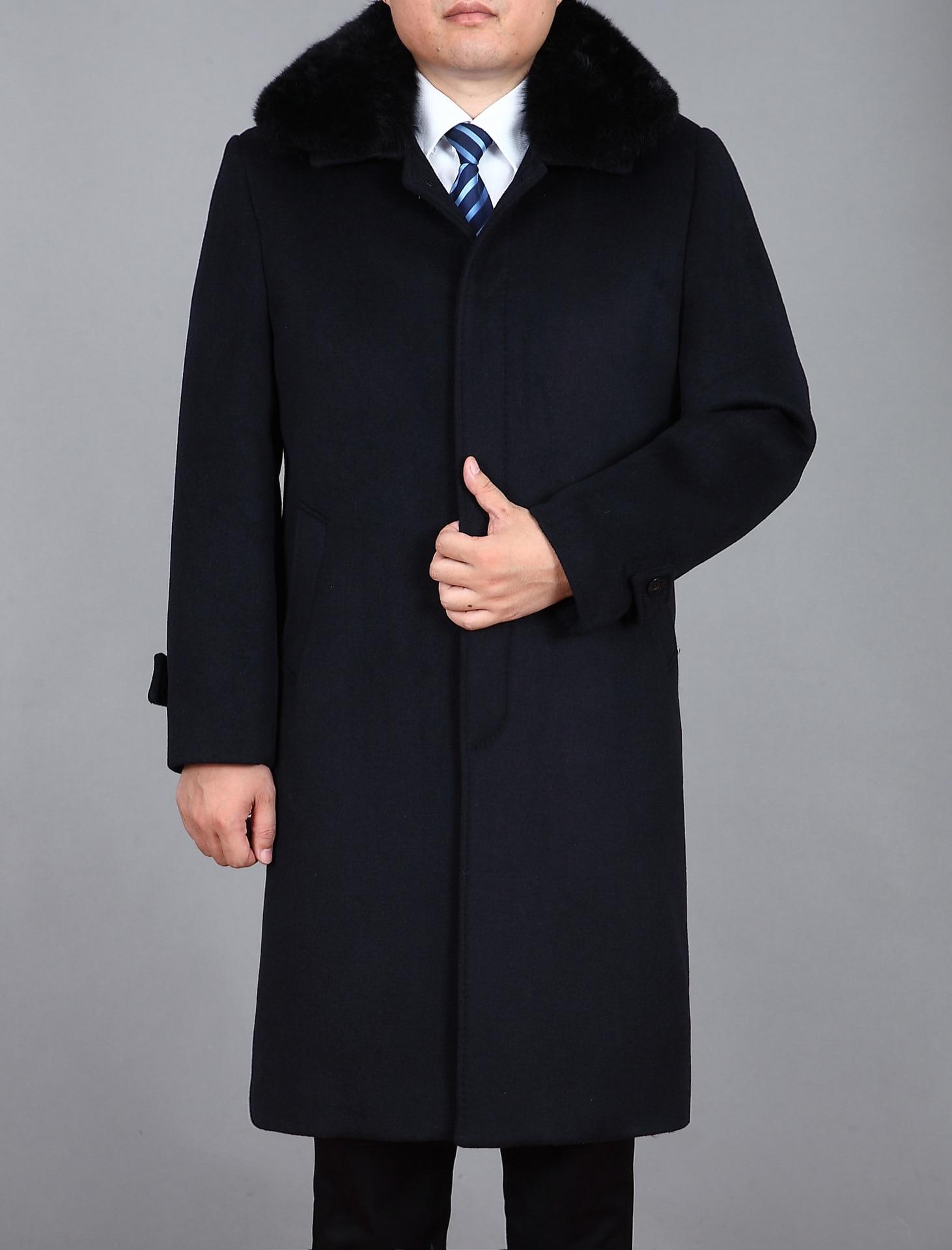 Mens Wool Coats And Jackets Men's Cashmere Coat Long Suit Jacket ...