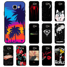 Ojeleye Fashion Black Silicon Case For Samsung Galaxy A7 2016 Cases Anti-knock Phone Cover A710 A710F/DS Covers