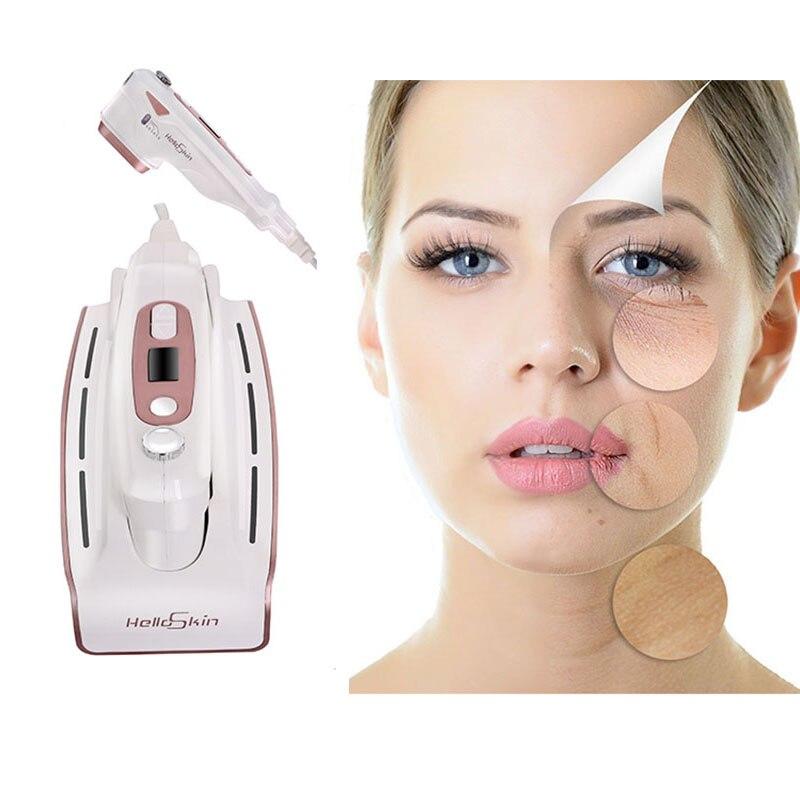 Ad ultrasuoni MINI HIFU Ringiovanimento Della Pelle RF di Sollevamento di Bellezza Terapia Ad Alta Intensità Focalizzata Ultrasuoni Cura della pelle Rimozione Delle Rughe