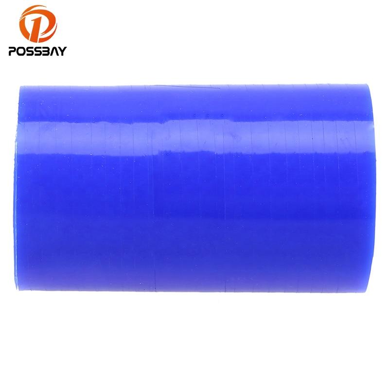 POSSBAY Universal 38mm/51mm/57mm/60mm/63mm/70mm/76mm/80mm/83mm Straight Constant Diamete Silicone Hose Reducer Tube Blue Hose