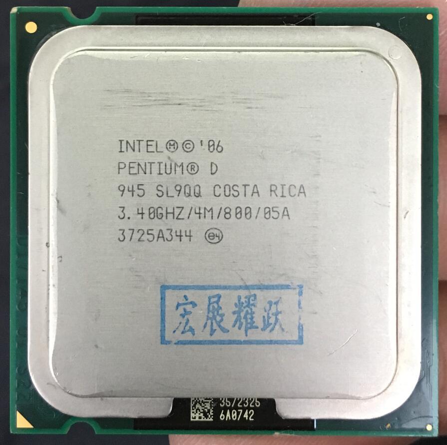 Intel Pentium D 945 Processador de Computador Desktop PC CPU PD 945 CPU LGA775 4 M Cache 3.40 GHz 800 MHz PD945