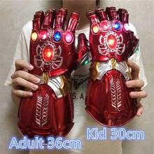 Amerykańscy superbohaterowie weapon 1:1 wojna Gauntlet Red Ver. LED Light Cosplay rękawiczki Prop figurka dzieci prezent