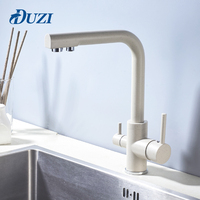 DUZI Drinking Water Filter Faucet Marble Color Kitchen Sink Tap 360 Degree Rotation 3 Way Water