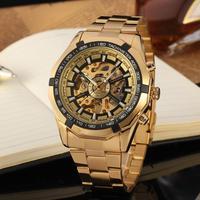 Winner Mens Watches Top Brand Luxury Golden Men Automatic Skeleton Watch Mens Sport Watch Designer Fashion