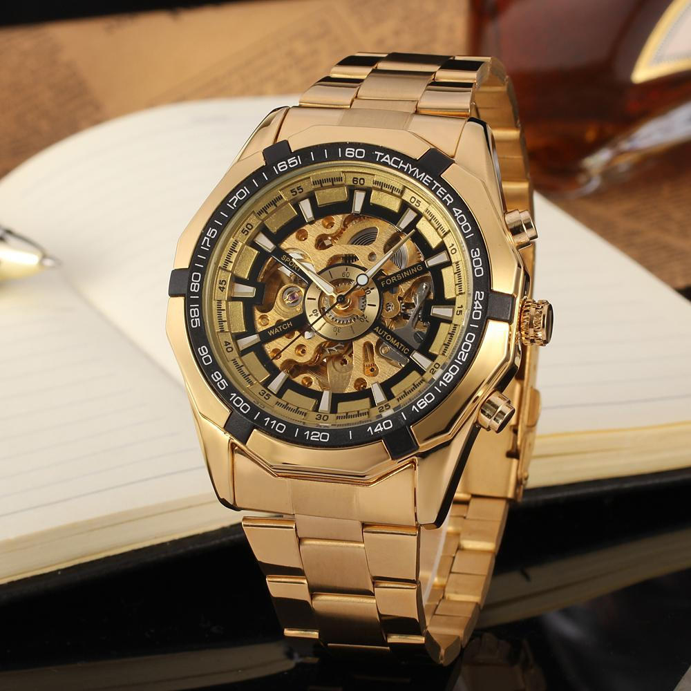 Winner Mens Watches Top Brand Luxury Golden Men Automatic Skeleton Watch Mens Sport Watch Designer Fashion Casual Clock Men Gift forsining date month display rose golden case mens watches top brand luxury automatic watch clock men casual fashion clock watch