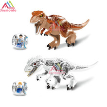 2Pcs/Sets 79151 Jurassic Dinosaur World Figures Tyrannosaurs Rex Building Blocks Compatible With LEGOINGlY Toys B243