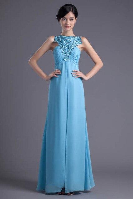 764715700c Light Blue Lace Embroidery Chiffon Bridesmaid Dresses 2018 Sexy Open Back Wedding  Party Dresses robe demoiselle d honneur