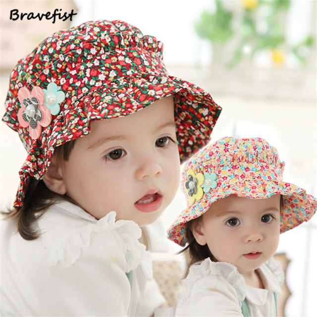 6b689205d0a Infant Floral Caps Hot Pink Blue Color Such Small Flower Baby Sunbonnet Hats  Spring Summer Caps The Best Choice For Baby Girls. 1 order