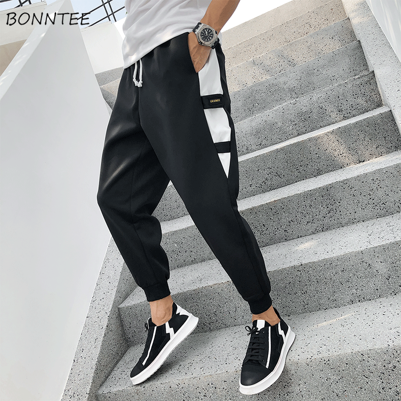 Pants Men Chic-Trousers Harem Oversize Korean-Style Various-Color Males New Ankle-Length