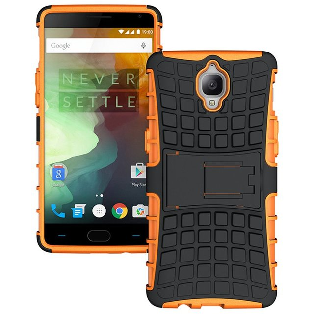 hot sale online 95904 c8b36 US $3.25 25% OFF|Oneplusone Hybrid Hard Armor Rugged Kickstand Back Cover  For Oneplus One Plus 6 5T 3 3T 5 Silicone Skidproof Phone Case-in ...
