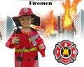 Milankerr Quliaty Altura Niños Cosplay Disfraces de Halloween para Niños Bombero Fireman Sam de Navidad Fiesta De Disfraces Desgaste Cosplay de Bombero